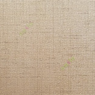 Light golden brown color complete texture embossed pattern small weaving  designs home décor wallpaper