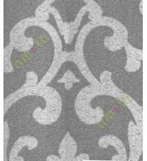 Grey colour beautiful big motif design home décor wallpaper for walls