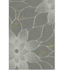 Grey brown black texture big flower design home décor wallpaper for walls