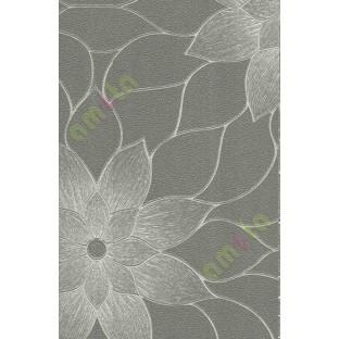 Grey Brown Black Texture Big Flower Design Home Decor Wallpaper For Walls