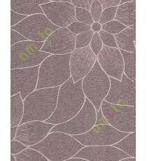 Purple gold texture big flower design home décor wallpaper for walls