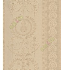 Yellow traditional design with vertical floral line design home décor wallpaper for walls