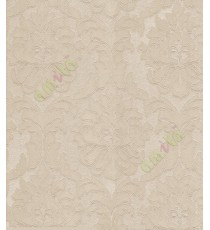 Yellow natural big floral motif design with self texture home décor wallpaper for walls