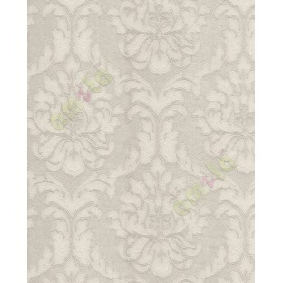 Cream Beige Natural Big Floral Motif Design With Self Texture Home Décor  Wallpaper For Walls