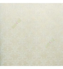 Beige color small traditional damask self design embossed finished texture surface with vertical thin lines wallpaper