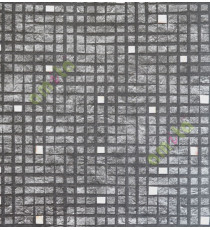 Black white yellow geometric squares stone cut piece finish home décor wallpaper for walls