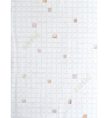 White background with purple green geometric squares stone cut piece finish home décor wallpaper for walls