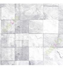 Grey white sparkle square stone pieces home décor wallpaper for walls