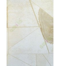 Yellow white texture concrete with stone tiles home décor wallpaper for walls