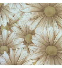 Awesome big beautiful flower looks like real 3D pattern brown beige white combination color of daisy flower wallpaper