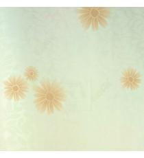 Beige brown gold color traditional flower leaf  with stem decorative wallpaper