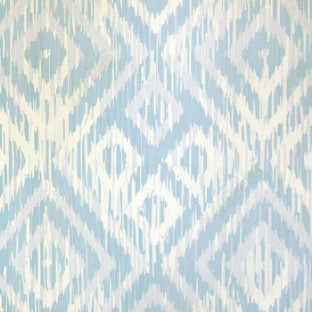 Blue White Grey Color Traditional Digital Design Four Leaf Damask Pattern Wallpaper