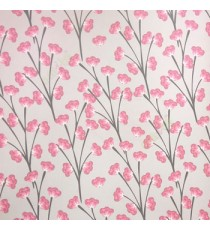 Beautiful red pink beige color flower in black color long stem flower twig pattern wallpaper