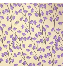 Beautiful Purple beige color flower in black color long stem flower twig pattern wallpaper