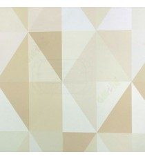 Abstract design in beige brown color diamond geometric shaped wallpaper
