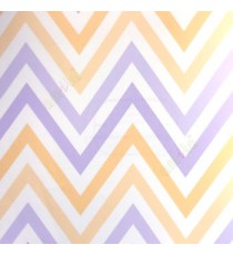 Abstract deisign in purple cream peach color zigzag bold up and down lines wallpaper