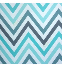 Abstract deisign in blue cream grey color zigzag bold up and down lines wallpaper