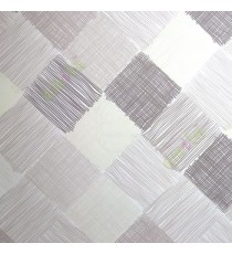 Grey cream color small vertical lines weaved patches design checks and crossing pattern wallpaper