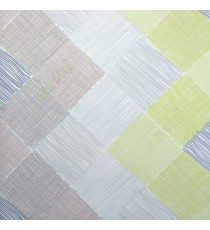 Green grey brown color small vertical lines weaved patches design checks and crossing pattern wallpaper