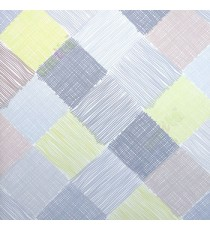 Dark grey green brown color small vertical lines weaved patches design checks and crossing pattern wallpaper