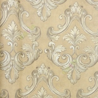 Brown Cream Silver Color Traditional Designs Swirl Pattern Texture