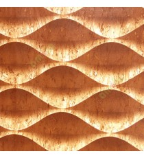 Dark brown beige color traditional design texture finished horizontal ogee pattern wallpaper