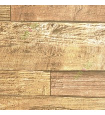 Beige brown gold color natural timber plank texture finished wallpaper