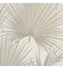 Beige cream gold color natural big leaf and long leaf wild plant fan plam patterns texture finished wallpaper