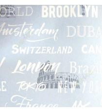 Blue white color tower of london bridge statue of liberty palace parachute alphabets big manuments wallpaper
