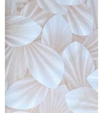 Beige brown white natural leaf design home décor wallpaper for walls