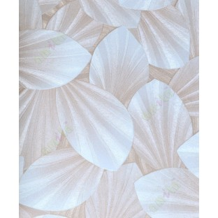 Beige brown white natural leaf design home décor wallpaper for walls