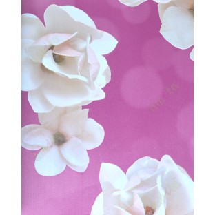 Pink White Brown Green Colour Beautiful Natural Floral With Glossy Finish Home Decor Wallpaper For Walls