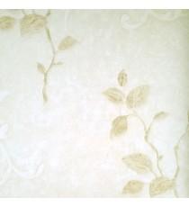 Beige color texture finished background with natural carved hanging long plants leaf traditional design wallpaper