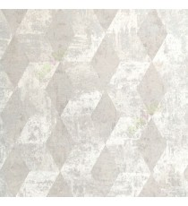 Beige brown color self texture geometric design diamond shape vertical zigzag pattern home decor wallpaper