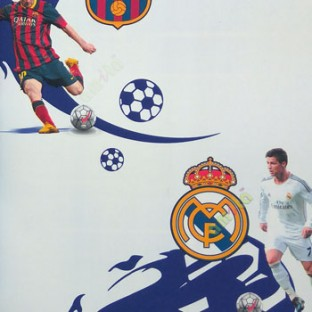 Yellow Blue White Red Black Color Playing Football Messi Real Madrid