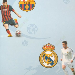 Yellow Black White Blue Red Color Playing Football Messi Real Madrid