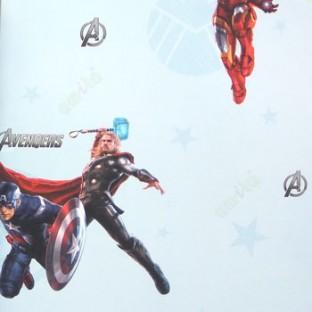 Blue Red Black Grey Color Kids Designs Avengers Hero Captain America