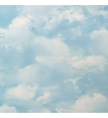 Blue white color sky clouds sunny day elegant look ceiling decorative texture surface oil painting home décor wallpaper