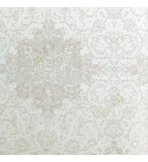 Beige brown silver color traditional digital designs flower damask swirls floral patterns embossed finished carved texture look water jelly design wallpaper