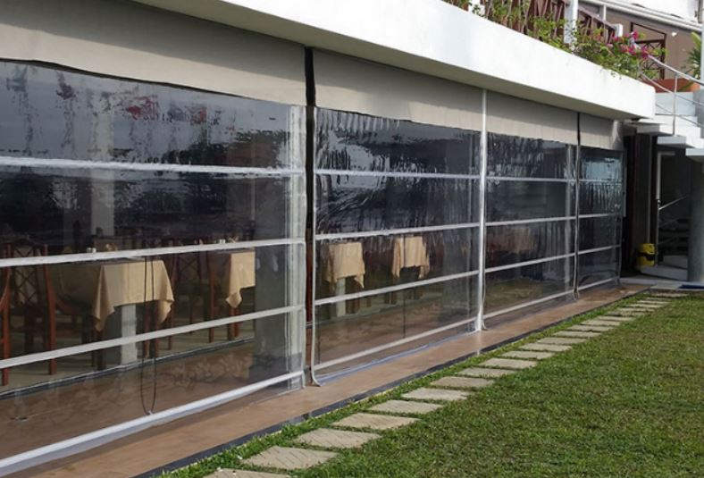 transparent monsoon roman blinds in bangalore